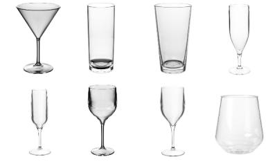 Kunststof glazen