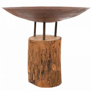 Vuurschaal Firepit Logger medium Wooden base