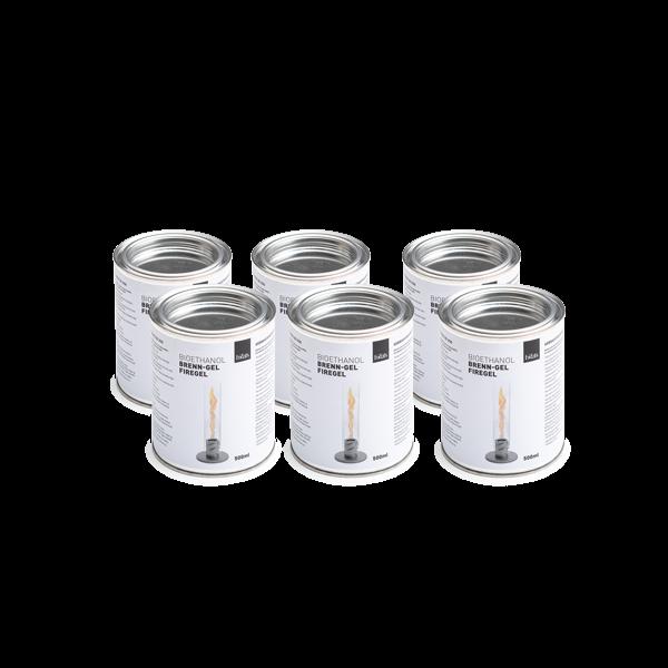 Spin Tafelvuur Bio-ethanol Blik 500 ml Set van 6 Stuks