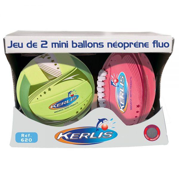 Set 2 mini ballen neopreen Fluo